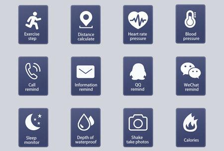 Smart Activity tracker | Waterdichte Bluetooth activity tracker mét hartslagmeter en slaapmonitor