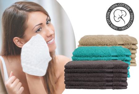 Hotelkwaliteit washandjes van 100% katoen | Pakket van 6, 12 of 18 stuks - in 12 kleuren