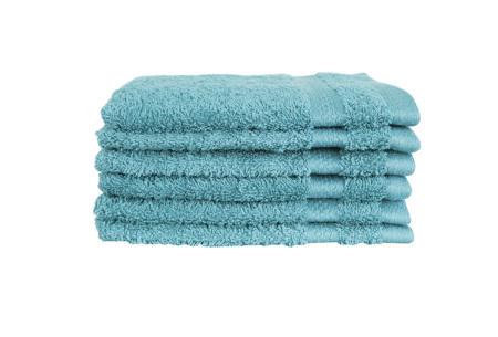 Hotelkwaliteit washandjes van 100% katoen | Pakket van 6, 12 of 18 stuks - in 12 kleuren  denim blue