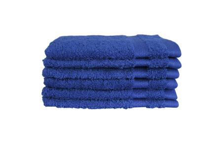 Hotelkwaliteit washandjes van 100% katoen | Pakket van 6, 12 of 18 stuks - in 12 kleuren  kobaltblauw