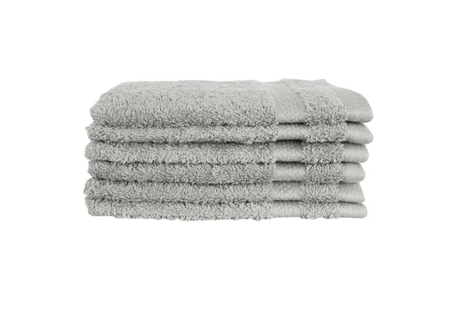 Hotelkwaliteit washandjes Lichtgrijs - set van 18