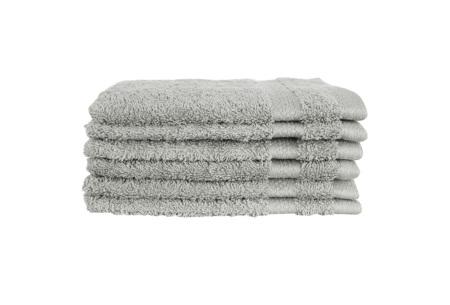 Hotelkwaliteit washandjes van 100% katoen | Pakket van 6, 12 of 18 stuks - in 12 kleuren  lichtgrijs