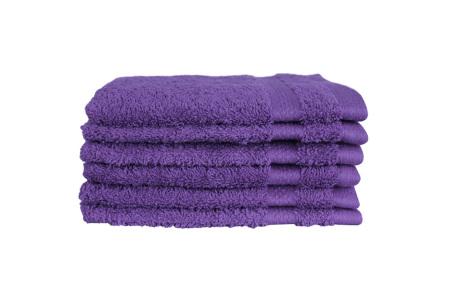 Hotelkwaliteit washandjes van 100% katoen | Pakket van 6, 12 of 18 stuks - in 12 kleuren  paars