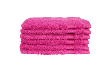 Hotelkwaliteit washandjes van 100% katoen | Pakket van 6, 12 of 18 stuks - in 12 kleuren  roze