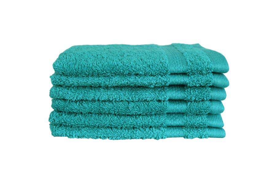 Hotelkwaliteit washandjes Spring green - set van 18