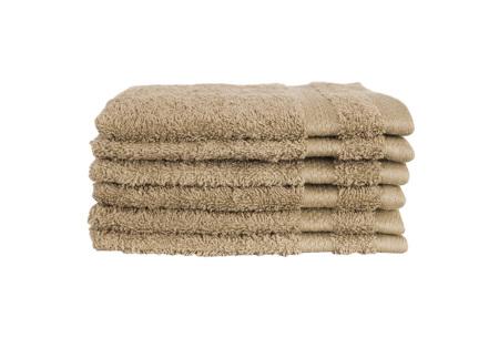 Hotelkwaliteit washandjes van 100% katoen | Pakket van 6, 12 of 18 stuks - in 12 kleuren  taupe