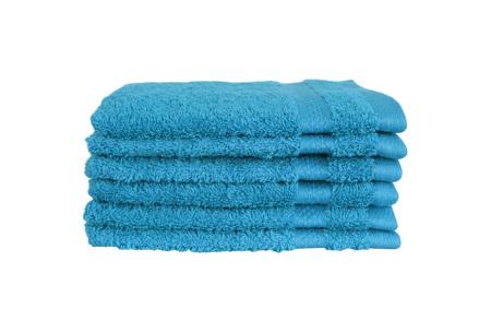 Hotelkwaliteit washandjes van 100% katoen | Pakket van 6, 12 of 18 stuks - in 12 kleuren  turquoise
