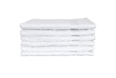 Hotelkwaliteit washandjes van 100% katoen | Pakket van 6, 12 of 18 stuks - in 12 kleuren  wit