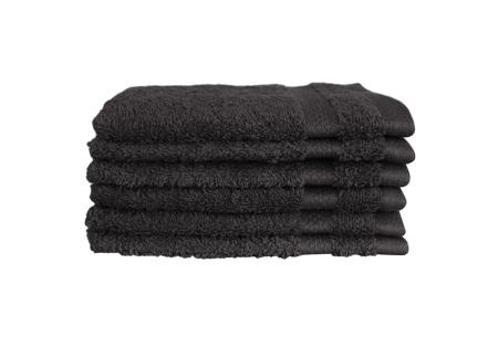 Hotelkwaliteit washandjes van 100% katoen | Pakket van 6, 12 of 18 stuks - in 12 kleuren  zwart