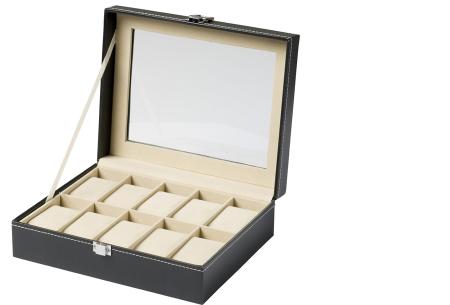Horloge opbergbox   Luxe organizer voor al jouw horloges!  10 horloges