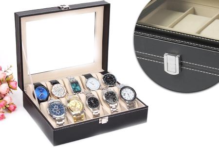 Horloge opbergbox nu met super hoge korting