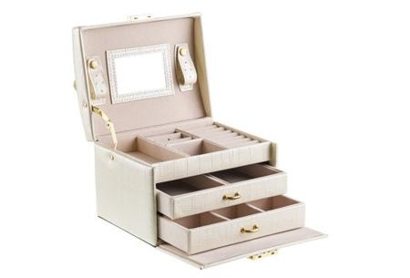 Sieradendoos | Luxe box voor al jouw horloges, oorbellen, kettingen en ringen! Wit