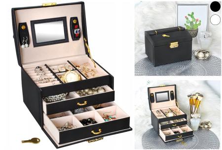 Sieradendoos | Luxe box voor al jouw horloges, oorbellen, kettingen en ringen!