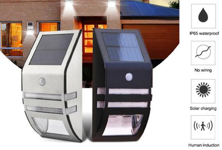 Solar buitenlamp in de aanbieding