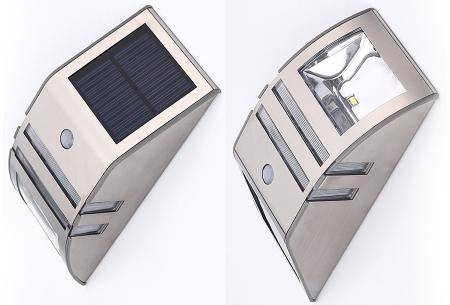 Solar buitenlamp | Luxe buitenverlichting met bewegingssensor Rvs