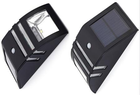 Solar buitenlamp | Luxe buitenverlichting met bewegingssensor Zwart