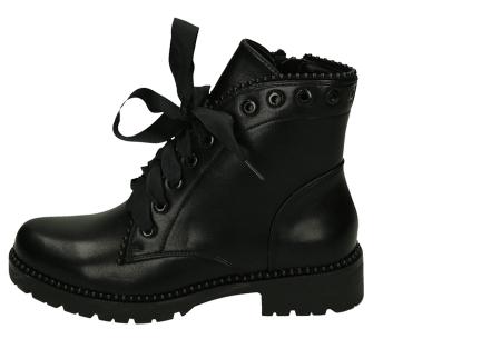 Zwarte biker boots   Enkellaarsjes met riempjes en/of veters in 4 trendy modellen  Model 2