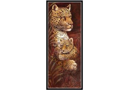 Sepia Diamond painting schilderijen | Keuze uit 9 bijzondere dieren #Luipaard