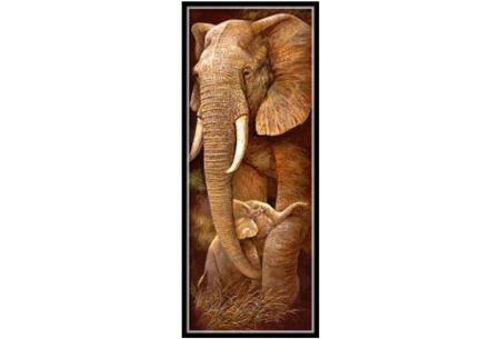 Sepia Diamond painting schilderijen | Keuze uit 9 bijzondere dieren #Olifant