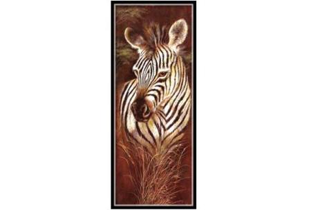 Sepia Diamond painting schilderijen | Keuze uit 9 bijzondere dieren #Zebra