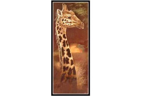 Sepia Diamond painting schilderijen | Keuze uit 9 bijzondere dieren #Giraf optie 2