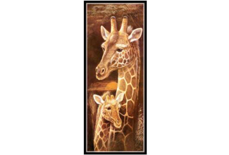 Sepia Diamond painting schilderijen | Keuze uit 9 bijzondere dieren #Giraf optie 1