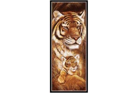 Sepia Diamond painting schilderijen | Keuze uit 9 bijzondere dieren #Tijger
