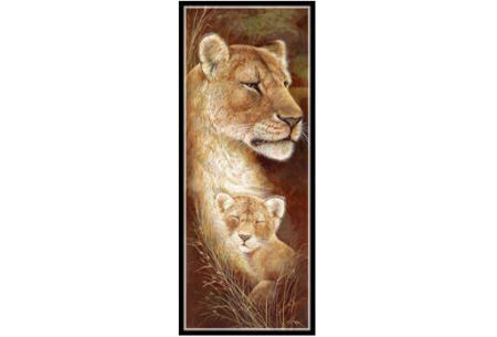 Sepia Diamond painting schilderijen | Keuze uit 9 bijzondere dieren #Leeuw optie 1