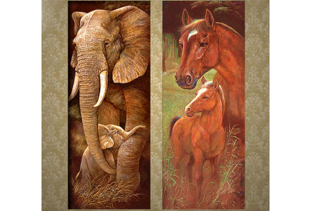 Sepia Diamond painting schilderijen | Keuze uit 9 bijzondere dieren