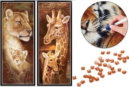 Sepia Diamond painting schilderijen nu met korting