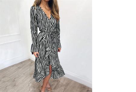 Dames blouse en jurk met stijlvolle zebraprint | Verkrijgbaar in 3 verschillende kleuren Grijs