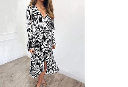 Dames blouse en jurk met stijlvolle zebraprint | Verkrijgbaar in 3 verschillende kleuren Wit