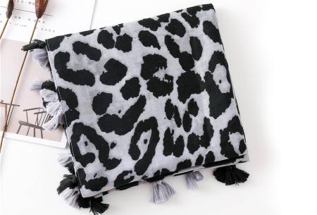 Panterprint sjaal | Houd jezelf lekker warm met deze trendy accessoire - in 4 kleuren