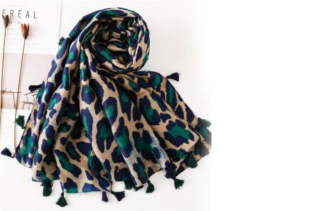 Panterprint sjaal | Houd jezelf lekker warm met deze trendy accessoire - in 4 kleuren Groen