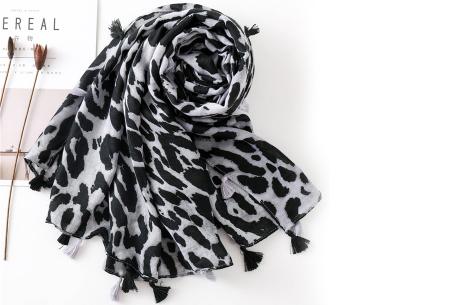 Panterprint sjaal | Houd jezelf lekker warm met deze trendy accessoire - in 4 kleuren Grijs
