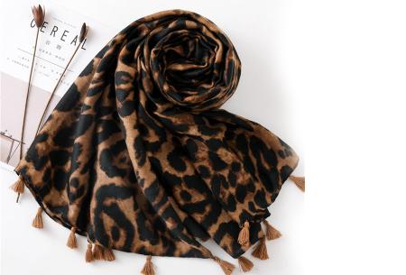 Panterprint sjaal | Houd jezelf lekker warm met deze trendy accessoire - in 4 kleuren Bruin