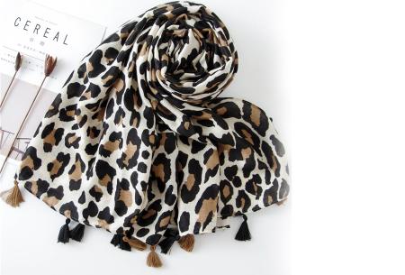 Panterprint sjaal | Houd jezelf lekker warm met deze trendy accessoire - in 4 kleuren Beige