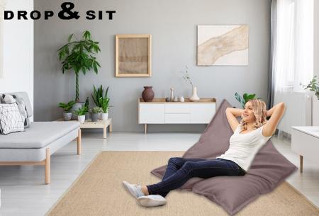 Drop & Sit lederlook zitzak - keuze uit 20 kleuren en 3 formaten