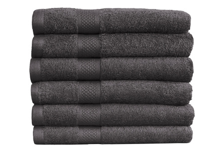 Luxe hotel handdoeken of badhanddoeken van 100% katoen | Diverse pakketten met oplopend set voordeel! antraciet