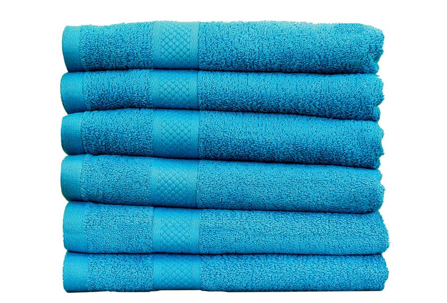 Set luxe handdoeken Turquoise - 50x100cm - 9 st - 500 gr