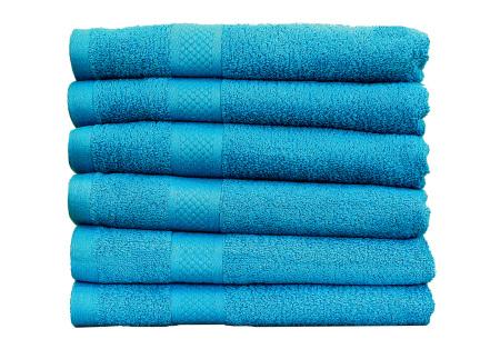 Luxe hotel handdoeken of badhanddoeken van 100% katoen | Diverse pakketten met oplopend set voordeel! turquoise