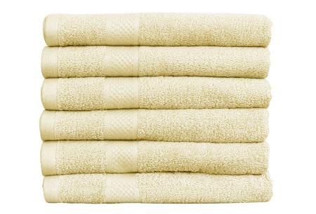 Luxe hotel handdoeken of badhanddoeken van 100% katoen | Diverse pakketten met oplopend set voordeel! crème