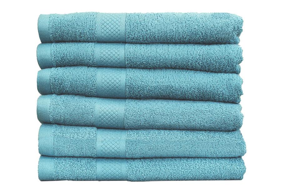 Set luxe handdoeken Denim blauw - 70x140cm - 6 st - 500 gr