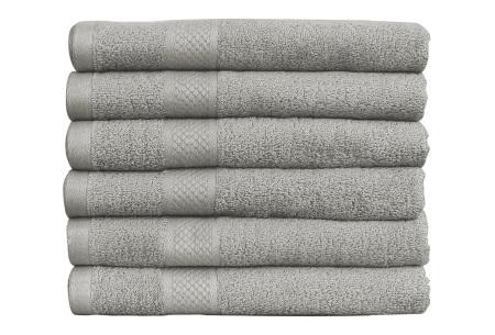 Luxe hotel handdoeken of badhanddoeken van 100% katoen | Diverse pakketten met oplopend set voordeel! lichtgrijs