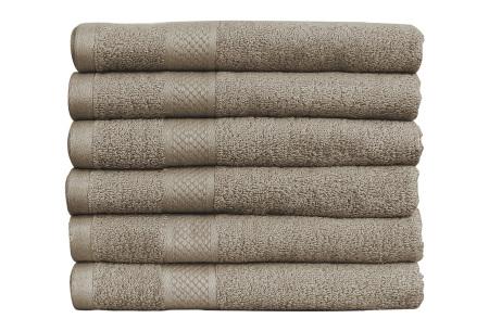 Luxe hotel handdoeken of badhanddoeken van 100% katoen | Diverse pakketten met oplopend set voordeel! taupe