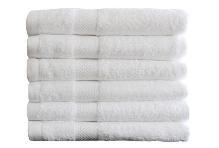 Luxe hotel handdoeken of badhanddoeken van 100% katoen | Diverse pakketten met oplopend set voordeel! wit