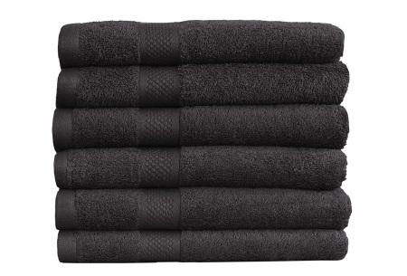 Luxe hotel handdoeken of badhanddoeken van 100% katoen | Diverse pakketten met oplopend set voordeel! zwart