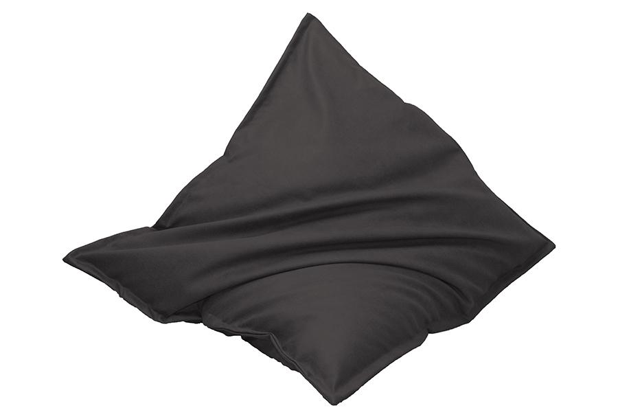 Drop & Sit zitzak met lederlook Maat 130 x 150 cm - Zwart