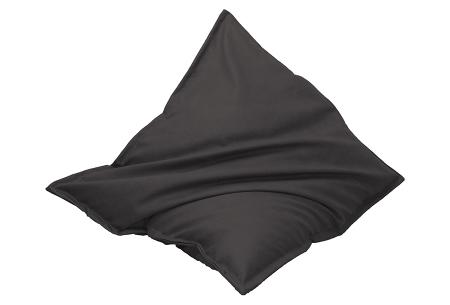 Drop & Sit lederlook zitzak - keuze uit 20 kleuren en 3 formaten Zwart
