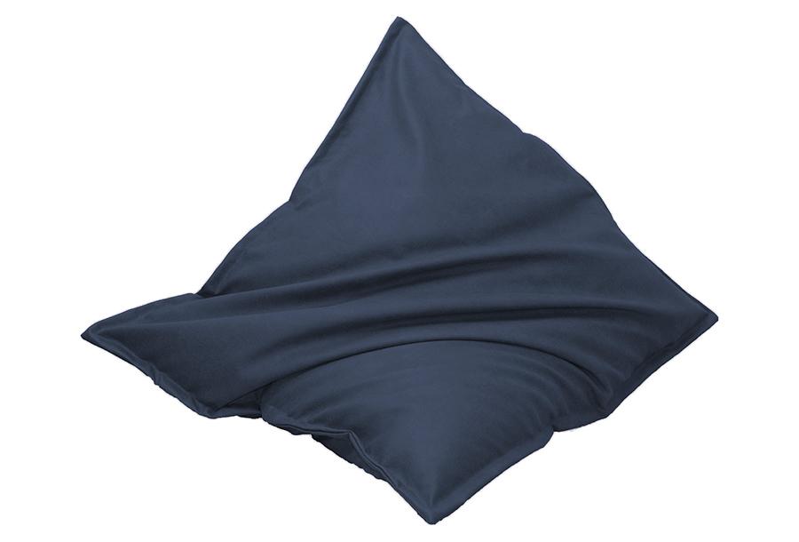 Drop & Sit zitzak met lederlook Maat 130 x 150 cm - Blauw